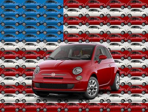 Fiat 500 USA Flag