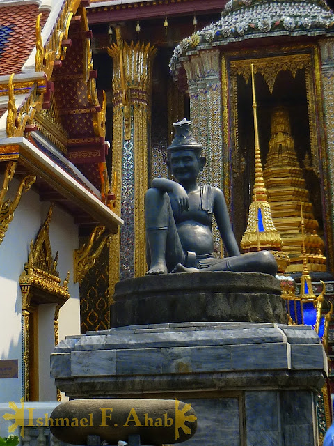 Statue of Shivagakomarpaj in Bangkok Grand Palace