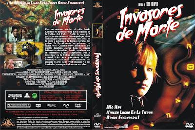 Carátula: Invasores de Marte (1986) (Invaders from Mars)