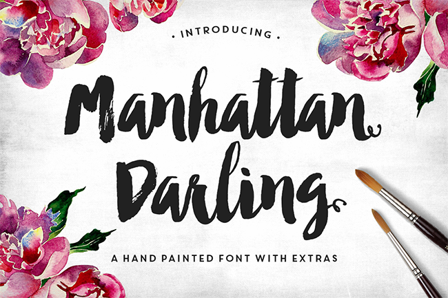 Manhattan Darling Typeface + BONUS par MakeMediaCo.