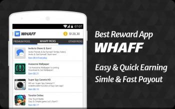 الربح من تطبيق Whaff