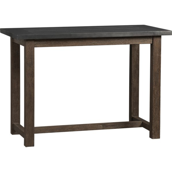 copy cat chic crate and barrel district high dining table. Black Bedroom Furniture Sets. Home Design Ideas