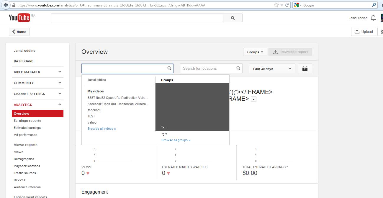 Google Hacking - Stored XSS in Youtube | jamalcom