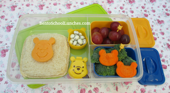 Winnie the Pooh Uncrustables for bento school lunches