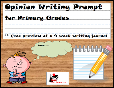 Free opinion writing  prompt for primary aged students - from Raki's Rad Resources.