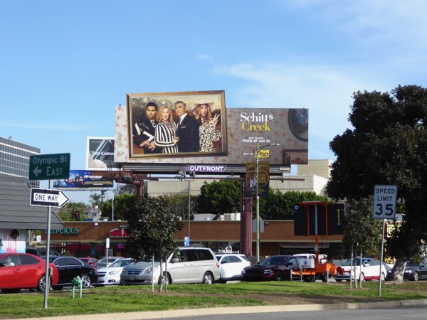 Schitts Creek season 4 cutout billboard