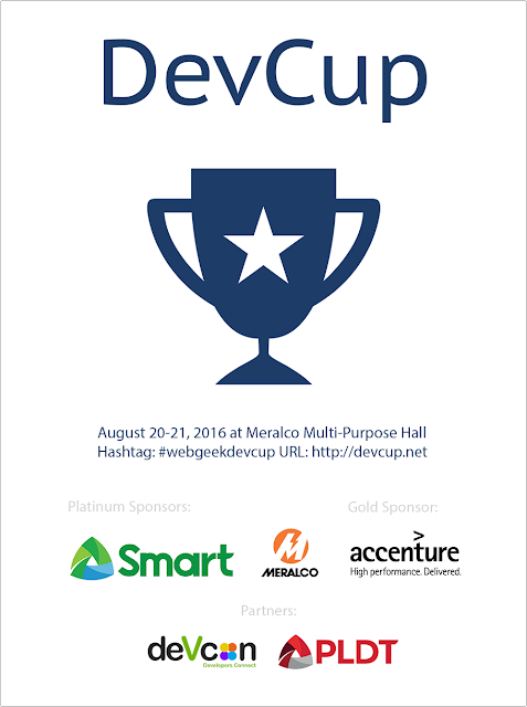 WebGeek DevCup Hackathon 2016 now on its 5th year, register now!
