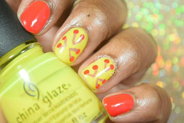 Lemon & Cherry Nail Art