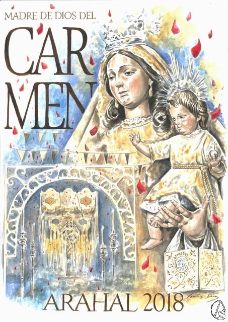 Cartel de Madre de Dios del Carmen de Arahal obra de Daniel Jiménez Díaz