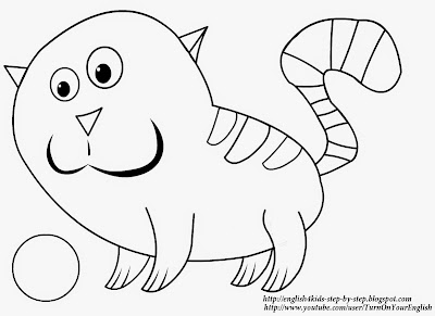 printable truthful cat coloring