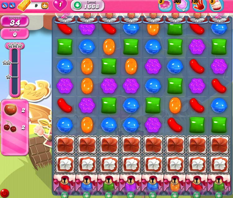 Candy Crush Saga 1668