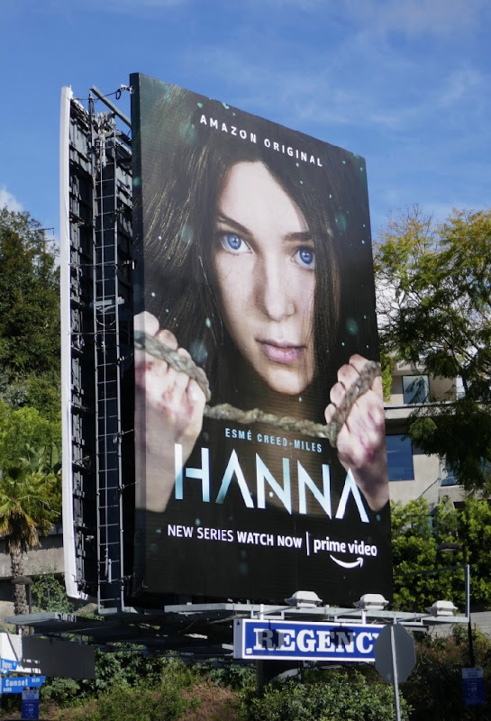 Hanna TV series billboard