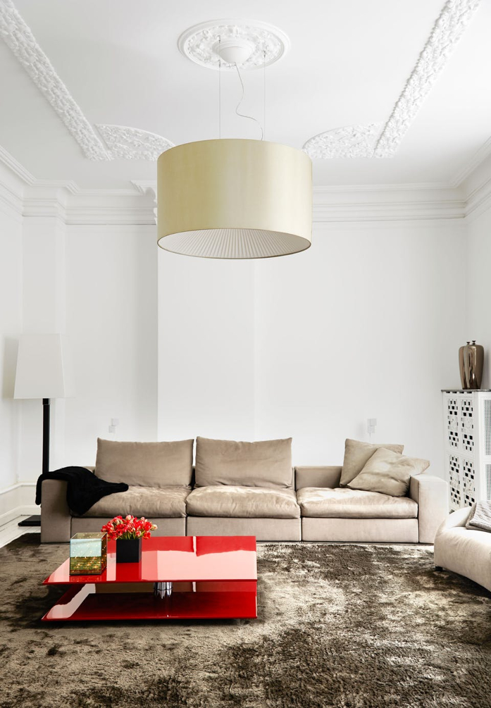 A sleek and modern living room design