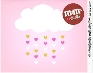 Etiqueta M&M de Lluvia de Bendiciones para Nena para imprimir gratis.