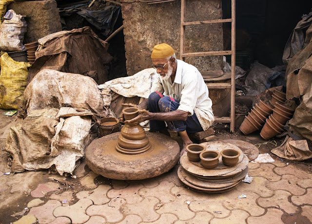 our world tuesday, traditional, potter, kumbharwada, dharavi, mumbai, india, street, street photo, street portrait, street photography,