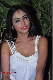 Actress Model Pooja Sri Stills in White Short Dress at F Club pre soft Launch  0203.JPG