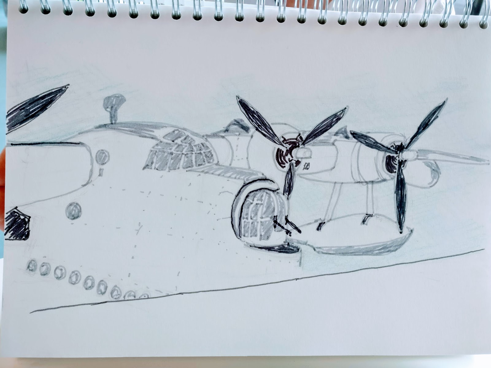 margaret-cooter: Drawing Tuesday - RAF Museum