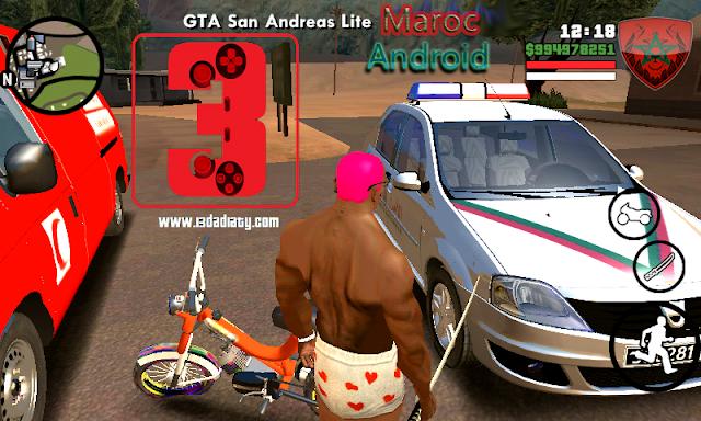 تحميل لعبة جتا المغرب لأجهزة الأندرويد GTA  MOROCCO ANDROID LITE كاملة بحجم صغير وخرافي