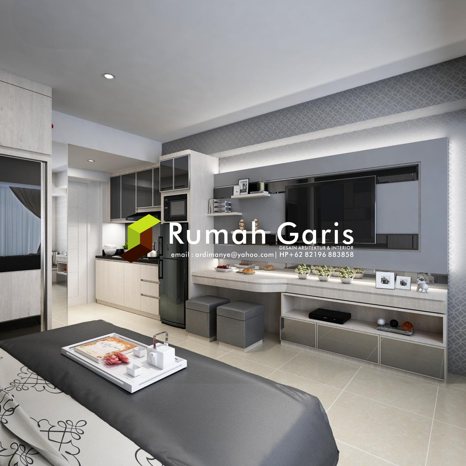 Interior Apartemen Di Jakarta Dan Surabaya Rumah Garis