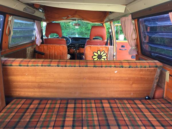 1975 Vw Westfalia Orange Bus Vw Bus Wagon