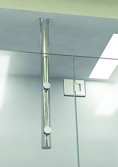 Ceiling Mount 33 Vertical Post System Giovani Shower Doors