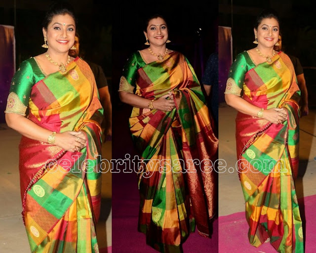 Roja Multi Color Silk Saree