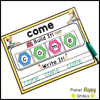 Constructing Words Sight Word Building Station, Planet Happy Smiles
