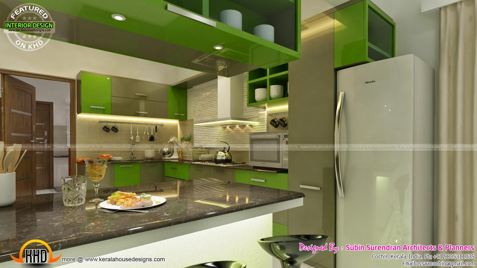 captivating home interior design kitchen | TV room, living, bedroom, kitchen interior - Kerala home ...