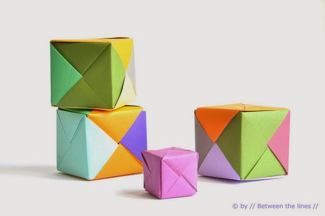 kilika hecho a mano origami cubo