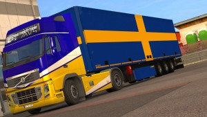 Swedish Flags standalone trailer
