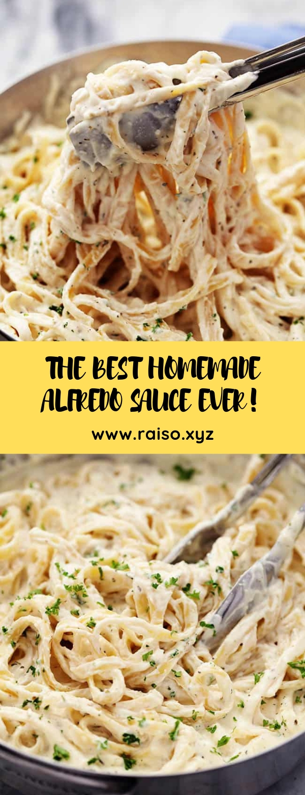 THE BEST HOMEMADE ALFREDO SAUCE EVER! #pasta #glutenfree #maincourse #alfredosauce #vegetarian