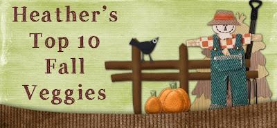 Top 10 Fall Veggies