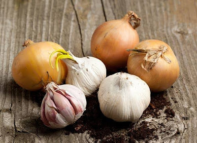 Onion and Garlic Juice - home remedies for boil treatment