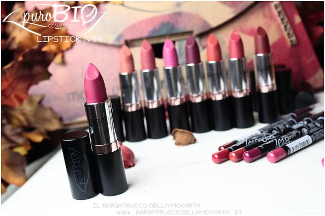 lipstick n 04 ,  rossetti purobio , lipstick, vegan makeup, bio makeup