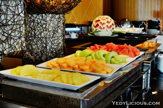 Choices of Fresh Fruits for Breakfast at Pan Pacific Manila