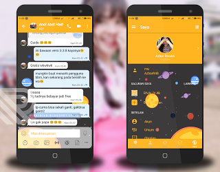 Download BBM Mod Mi-Space Unclone v3.3.8.74 Apk (Custom PIN) Terbaru