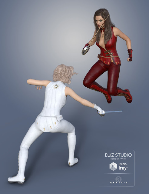 Magna Flux Sabre Poses for Genesis 3 Female and Victoria 7