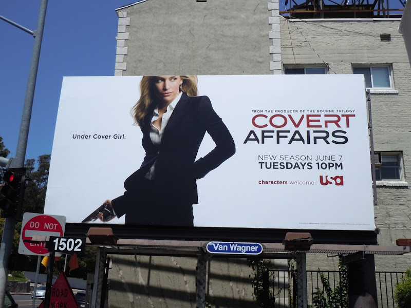 Covert Affairs 2 Piper Perabo billboard