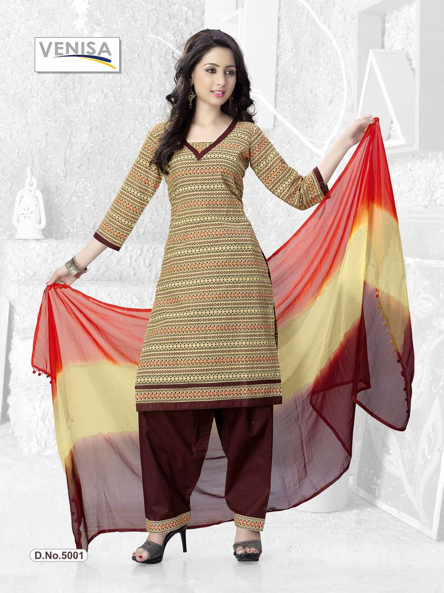 SUMMER COLLECTION -New Fancy Cambric cotton Dress material