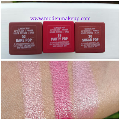 Clinique Pop Lip Colour + Primer swatches www.modenmakeup.com