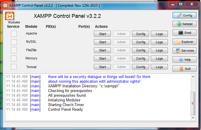 xampp server for windows 8 64 bit