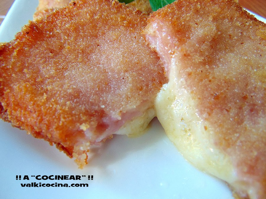 San Jacobos de jamón cocido y queso