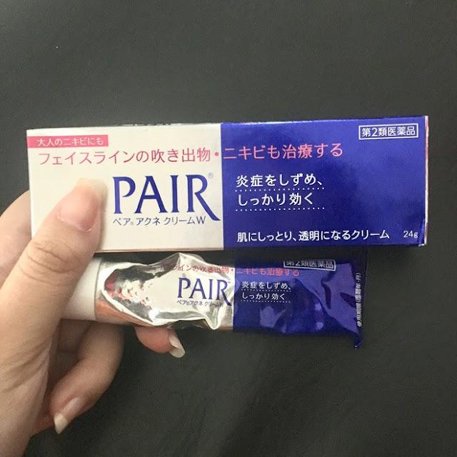 review kem trị mụn đầu đen pair acne giá rẻ