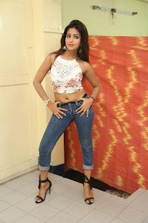 Deekshita Parvathi in a short crop top and Denim Jeans Spicy Pics Beautiful Actress Deekshita Parvathi January 2017 CelebxNext (72).JPG