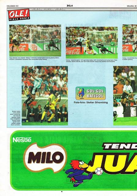 WORLD CUP 1998 GABRIEL BATISTUTA BATIGOL