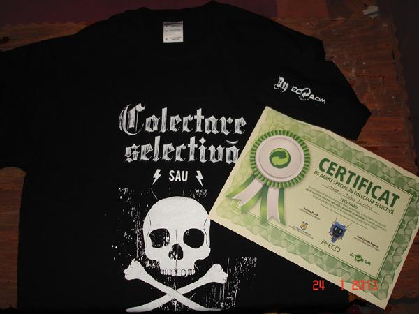 Unpacking EcoRom: diploma & T-Shirt
