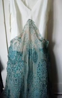 silk overskirt detail upcycled boho faerie dress at karenvallerius.co.uk
