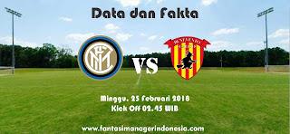 Data dan Fakta Liga Fantasia Serie A Gio 26 Inter vs Benevento Fantasi Manager Indonesia