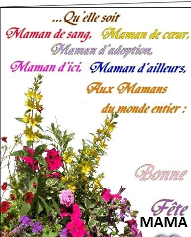 photo BONNE FÊTE À TOUTES LES MAMANS