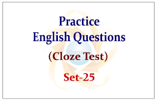 SBI PO Exam 2015- Practice English Questions (Cloze Test)